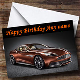 Bronze Aston Martin Vanquish Customised Birthday Card
