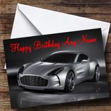 Aston Martin Silver Db Customised Birthday Card