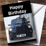 Taxi Black Cab Customised Birthday Card
