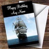 Ship Sailing Customised Birthday Card