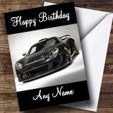 Porsche Carrera Customised Birthday Card