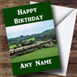 Orient Express Train Customised Birthday Card