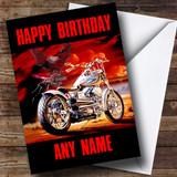 Harley Davidson Motorcycle Customised Birthday Card
