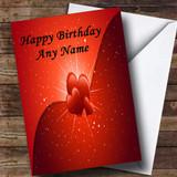 Hearts And Stars Romantic Customised Birthday Card