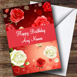 Romantic Roses Customised Birthday Card