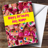Love Heart Sweets Romantic Customised Birthday Card