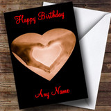 Heart Hands Romantic Customised Birthday Card