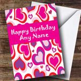 Beautiful Love Heart Romantic Customised Birthday Card