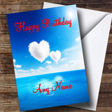 Sky And Clouds Romantic Customised Birthday Card