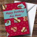 Love Hearts Romantic Customised Birthday Card