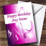 Purple Love Romantic Customised Birthday Card