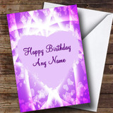 Pink & Purple Hearts Romantic Customised Birthday Card