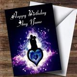 Purple Lovers Romantic Customised Birthday Card