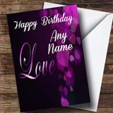 Gorgeous Purple Love Romantic Customised Birthday Card