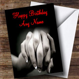 Holding Hands Romantic Customised Birthday Card