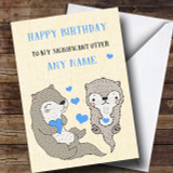 Funny Significant Otter Husband Boyfriend Partner Fiancée© Birthday Card
