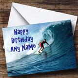 Surfing Customised Birthday Card