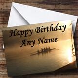 Rowing Customised Birthday Card