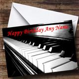 Piano Customised Birthday Card