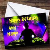 Purple DJ Customised Birthday Card
