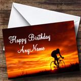 Cycling Bike Customised Birthday Card