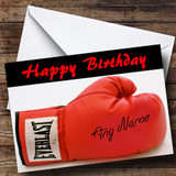 Signed Boxing Glove Customised Birthday Card