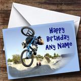 Blue BMX Customised Birthday Card