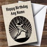 Vintage Cricket Customised Birthday Card
