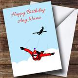 Skydiving Customised Birthday Card