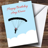 Parachuting Customised Birthday Card