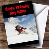 Snowboarding Customised Birthday Card