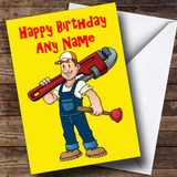 Plumber Customised Birthday Card