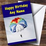 Parachute Customised Birthday Card