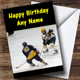 Ice Hockey Customised Birthday Card