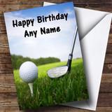 Golf Ball Customised Birthday Card