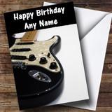 Electric Guitar Customised Birthday Card
