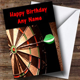 Dartboard Darts Fan Customised Birthday Card