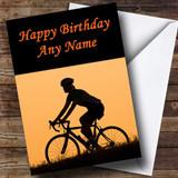 Cycling Fan Customised Birthday Card