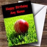 Cricket Ball Customised Birthday Card