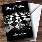 Chess Board Customised Birthday Card
