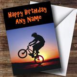 BMX Stunt Customised Birthday Card