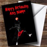 Cool Basketball Customised Birthday Card
