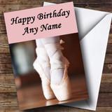 Pretty Ballet Customised Birthday Card