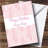 Pink Ballet Customised Birthday Card