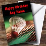 Badminton Customised Birthday Card