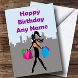 Shopping Shopaholic Customised Birthday Card
