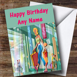 Shopping Fan Shopaholic Customised Birthday Card
