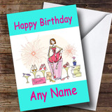 Shoe Shopping Fan Customised Birthday Card
