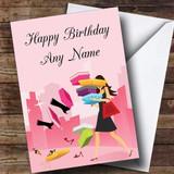 Shoe Shopping Customised Birthday Card