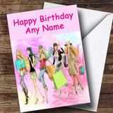 Girly Shopping Trip Customised Birthday Card